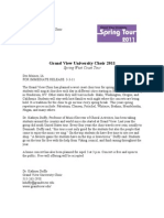 Grand View University Choir Press Release 2011