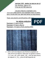 08) Para Malha Em Lã Industrial 2/28 - Ponto Sanfona 5x5 - Com Barra