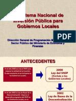 1 Snip en Gobiernos Locales