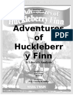 Adventures of Huckleberry Finn Literary Analysis.leny D.
