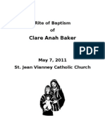 Rite of Baptism