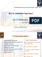 How to administer Injections? MBBS