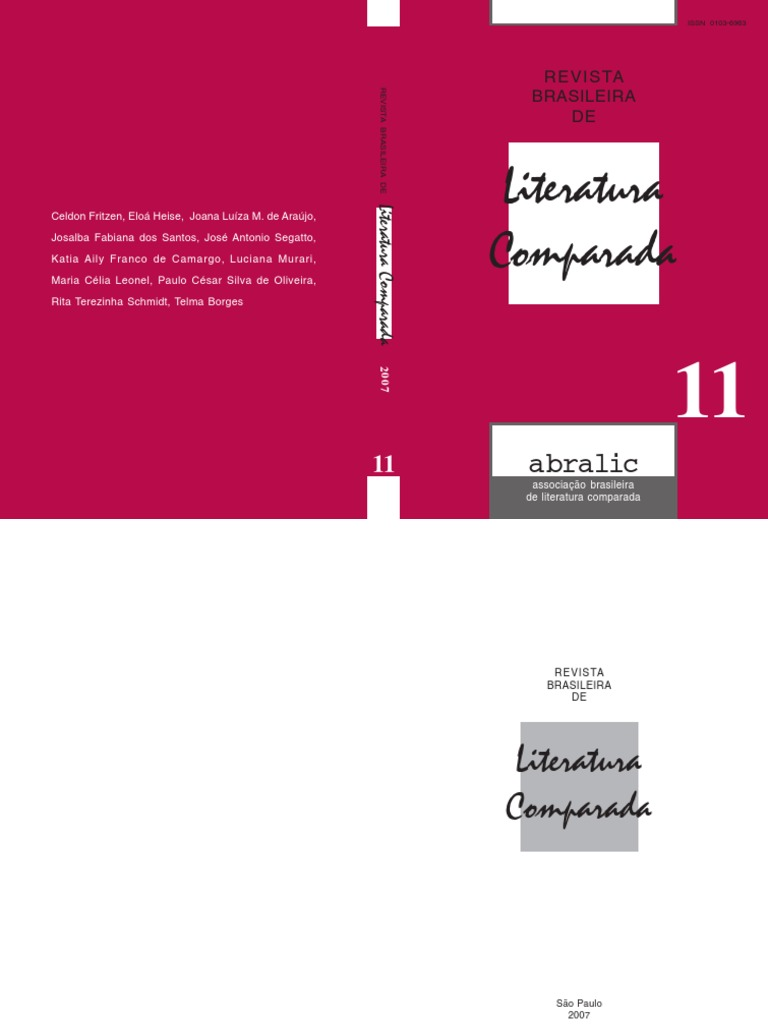 6b65947d5c6c1 Revista Brasileira de Literatura Comparada - 11