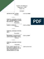 Arturo de Castro v. JBC, Et. Al.-mr