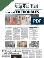 The Daily Tar Heel for September 7, 2011