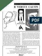 Compulsion Versus Liberty in Education Stirner Versus Calvin