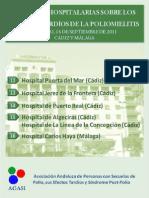 Jornadas Hospitalarias  en Cádiz y  Málaga del 12 al 16 de Septiembre Sobre los Efectos Tardios de la Polio y el Sindrome Postpolio
