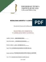 EVALUACIÓN A DISTANCIA. TECNOLOGÍA EDUCATIVA PARA LA GESTIÓN. 2011.