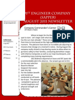 591st Sapper Company August Newsletter