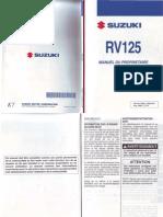 Manuel Suzuki RV125 K7