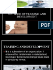 Methods of Training and Development