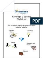 KS2 Science Worksheet