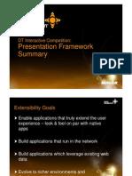 Presentation Framework Summary