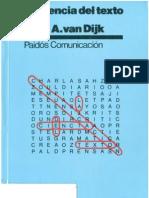Van Dijk, Teun (1978), La Ciencia Del Texto
