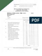 Trial PMR Math Penang 2011 P2 w Ans