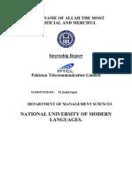 Internship Report on Pakistan Telecommunication Limited