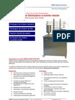 HTST et UHT système de pasteurisation et la stérilisation de laboratoire - HT220 by OMVE