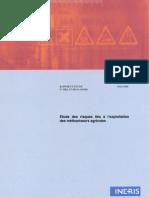 INERIS - Risques exploitation méthaniseurs agricoles 2008