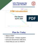FEA Spring 2008 Intro