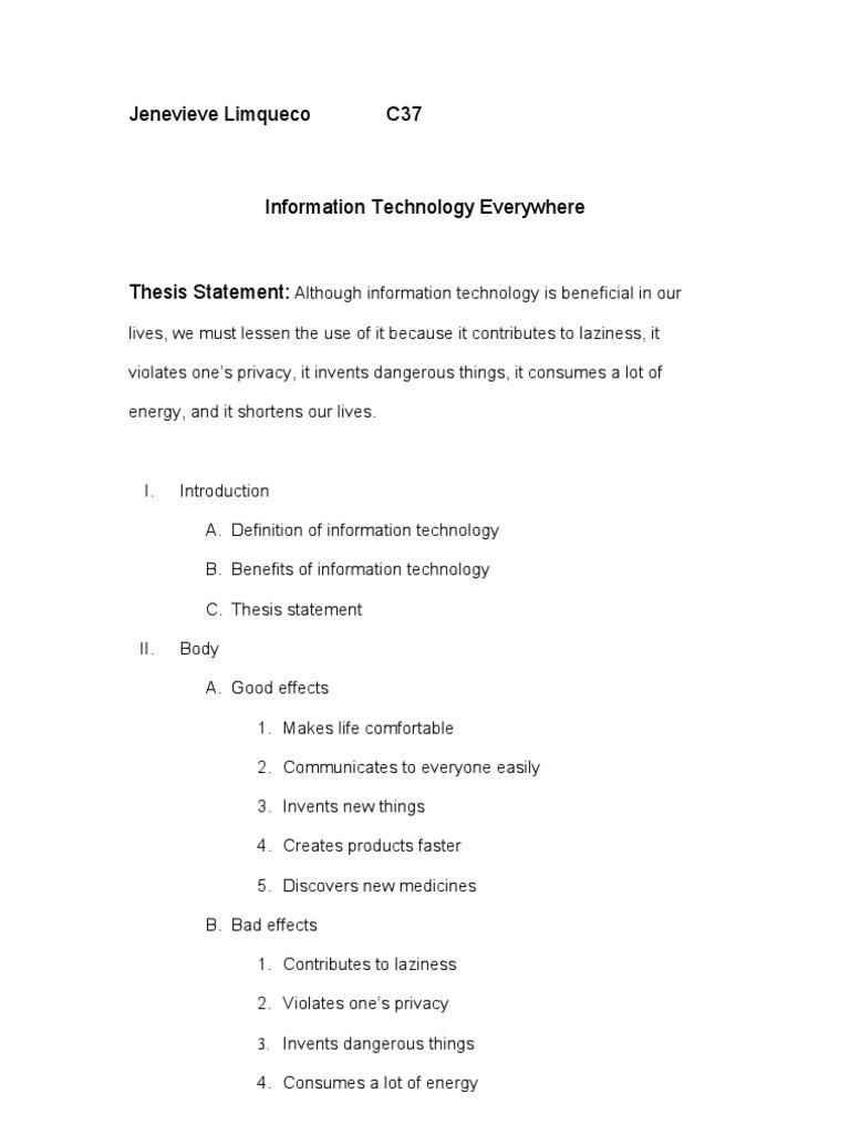 argumentative essay about information technology privacy radiation