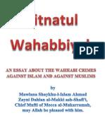 Fitnat-Ul-Wahabbiyah by Maulana Shaykh-Ul-Islam Ahmed Zayni Ash-Shafi'i(Rehmatullah Alaih)