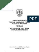Perda 16_2008 DAN 13_2009 - Kalimantan Tengah
