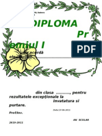 Diploma Floare
