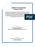 Community Discussions a Summary Report in Spring 2006, The