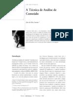técnicas de análise de conteúdo Amado 2000