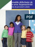 TDAH - Guide à l'attention du personnel scolaire