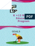 K +12 Basic Education Program- GOALS