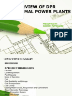 Dpr of Thermal Power Plant