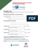 PJ Enrollment Form