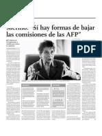 Merino, Si Hay Formas de Bajar Las Comisiones de Las AFP