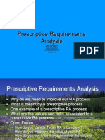 Prescriptive Requirements Analysis VIEW ME