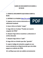 Pasos Para Subir Un Documento de Word a Mi Blog