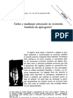 Ciclios e Mudancas Estruturais Na Economia Brasileira Do Pos-guerra - Jose Serra