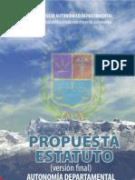 Proyecto de Estatuto Autonómico de Cochabamba