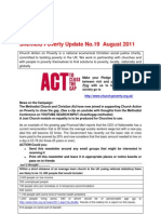 Sheffield Poverty Update No 19 August 2011