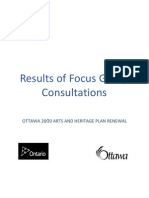 City of Ottawa Culture Plan Renewal - Final Focus Group Report