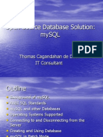 Open Source Database Solution