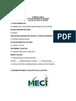 Informe Ley 951 de 2005 Esther Adriana Diaz Ossa 2010 Cargo Control Interno