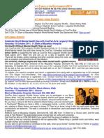CoolTan Arts E-Bulletin Sept 2011