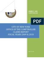 2011 NYC Claims Report