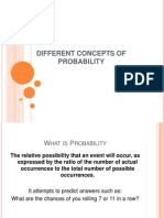 Different Concepts of Probability