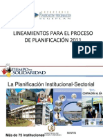 Lineamientos Para El Proceso de Planificacion