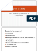 Yield Curves and Term Structure of Interest Rates