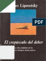 Lipovetsky Gilles - El Crepusculo Del Deber