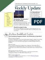 Weekly Update 2011.8.9