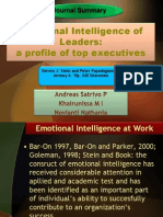 Emotional Intelligence of Leaders